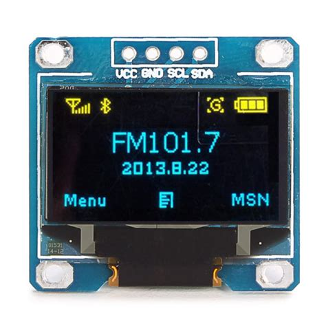 Oled 2828 Color Display Module buy 0 96 inch 4pin blue yellow iic i2c oled display module for arduino bazaargadgets