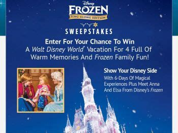 Cing Sweepstakes - the disney frozen sing along sweepstakes sweepstakes fanatics