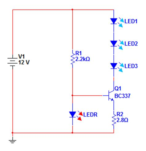 transistor led driver schematic costant current electronics arduino