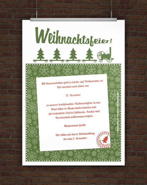 Muster Einladung Jubiläum Firma Drucke Selbst Kostenlose Einladung Weihnachtsfeier
