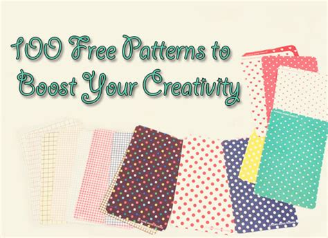 100 free patterns to boost your creativity inspiration freebies web design library