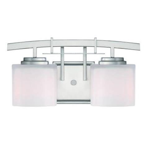 hton bay 2 light brushed nickel bath light 05380 the home depot hton bay architecture 2 light brushed nickel vanity light 15039 the home depot
