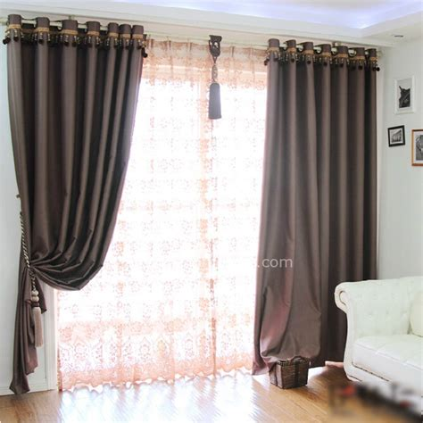 brown thermal curtains living room solid blackout and thermal brown curtains
