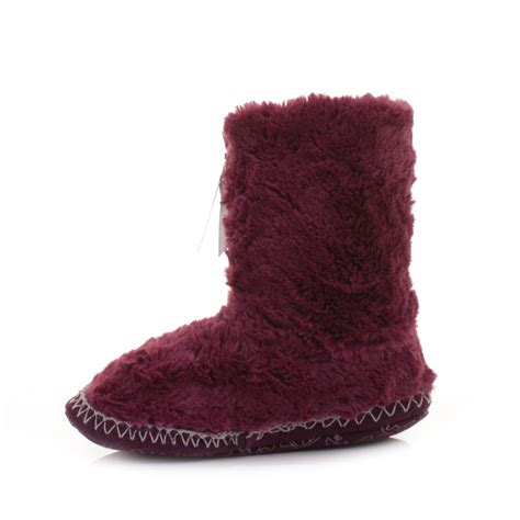 bedroom boots womens girls bedroom athletics marilyn plum faux fur