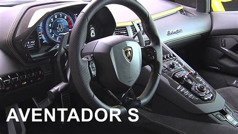 lamborghini inside view 2017 lamborghini aventador s interior youtube