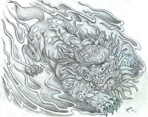 foo dog tattoo design fu designs ideas pictures