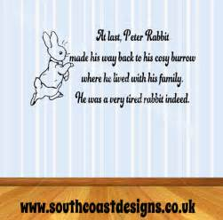 Baby Boy Nursery Wall Stickers beatrix potter peter rabbit amp quote wall sticker design 1