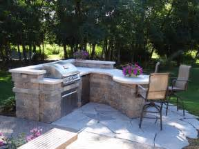 Kitchens With Breakfast Bar Designs Custom Outdoor Kitchen Contemporary Patio Milwaukee