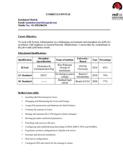harish linux resume