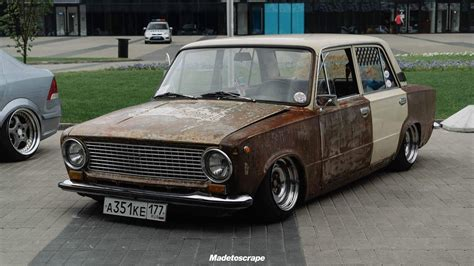 lada moto vaz lada 2101 rat rod slammed ratlook coches autos y
