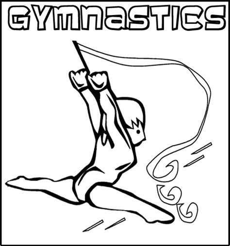 gymnastics coloring pages lets doing sport gianfreda net