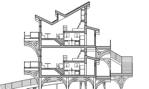 Section Cut by Adobe Illustrator Using The Live Paint Tool For Architectural Drawings Brown Designs