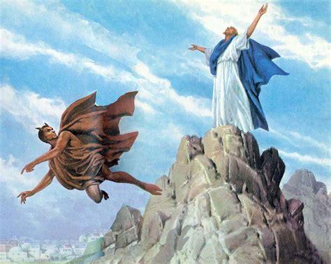imagenes de jesucristo y satanas intento del diablo de tentar a jes 250 s 187 mi espada es la biblia