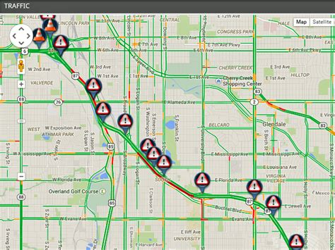 denver traffic map i 25 sb reopens after overnight bridge project between colorado east 7news denver