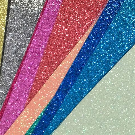sheet fabric fine glitter fabric sheet 25cm x 30cm high quality
