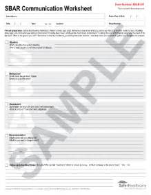 Sbar Template by Free Printable Sbar Form Fill Printable