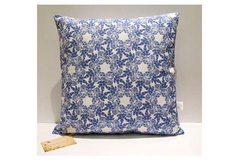 Cushion Cover Sarung Bantal Hello Blue indigo blue cushion cover by handmade by me