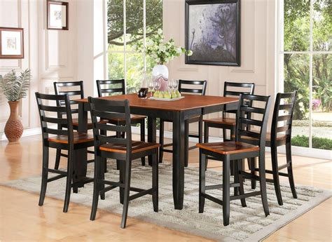tall dining room table sets 7 pc square counter height dining room table 6 wood seat