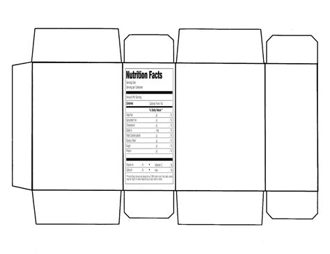 Printable Cereal Box Template digital arts integration with language arts and