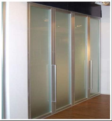 Frosted Closet Sliding Doors by Aluminum Frame Frosted Glass Bi Fold Wardrobe Doors Bi