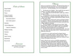 Blank Program Template by Blank Funeral Program Template With Order Of Service And