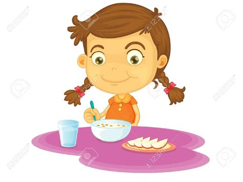 kid eating breakfast clipart   clipartsgram