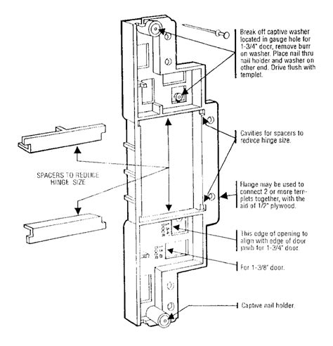 buy porter cable 59370 type 1 door hinge template