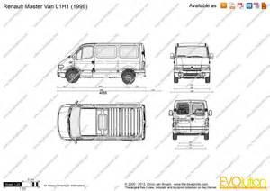Renault Master L1h1 The Blueprints Vector Drawing Renault Master L1h1