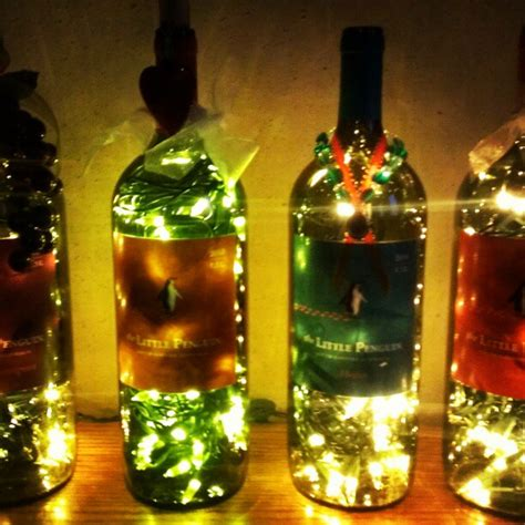 How To Make Wine Bottle Lights by Lighted Wine Bottles Local Benefit How To Make A Bottle L