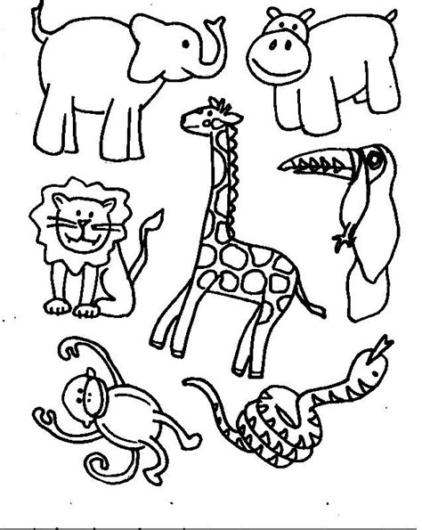 free printable zoo animal cutouts jungle coloring pages slp stuff pinterest child