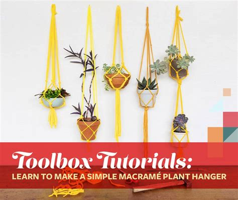 Learn How To Macrame - toolbox tutorials learn to make a simple macram 233 plant
