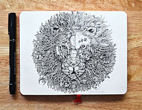 doodle drawing pens new incredibly detailed pen doodles by kerby rosanes