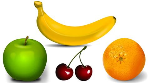 4 fruits name simple learning about fruits learn fruit names