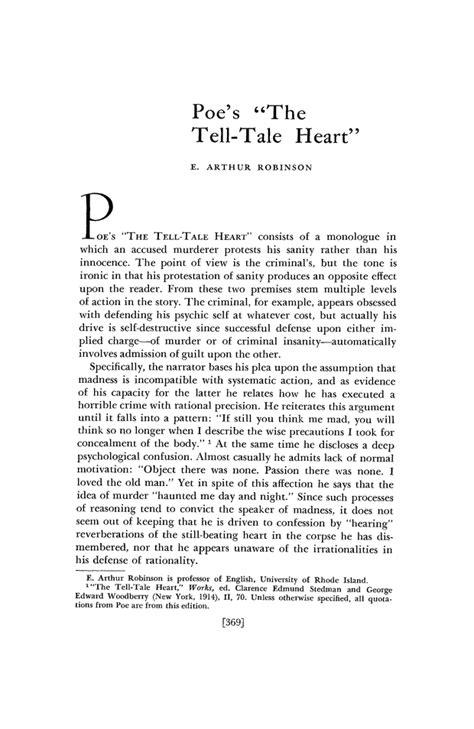 "Poe's ""The Tell-Tale Heart""   Nineteenth-Century Literature"