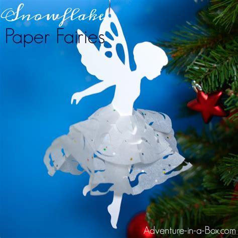 paper ballerina snowflakes angels  fairies