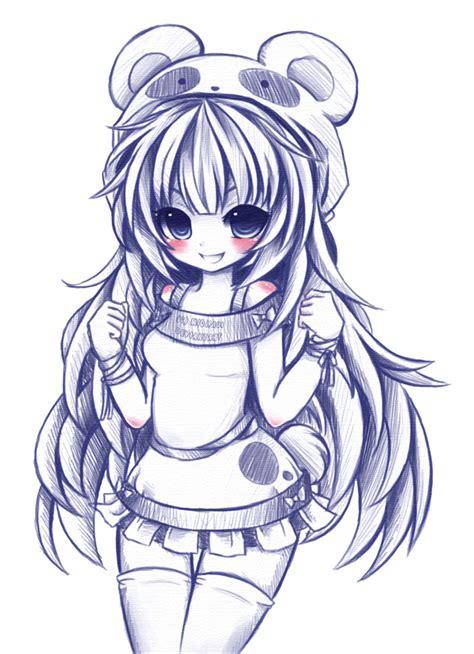 doodle anime panda doodle by midna01 on deviantart