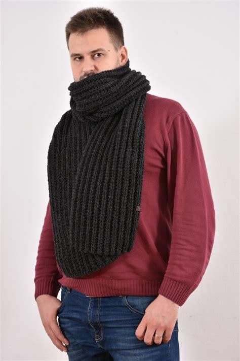 mens chunky knit scarf chunky knit scarf s scarf big wool scarf