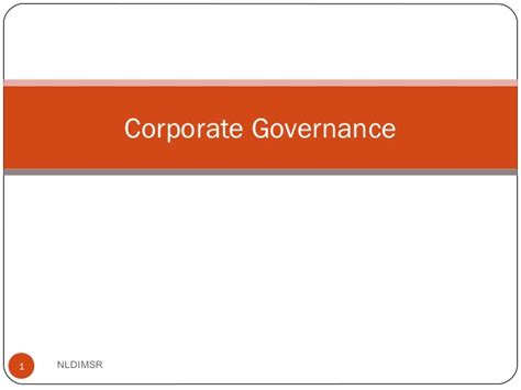 Mba Research Topics On Corporate Governance by Corporate Govenrance Mba