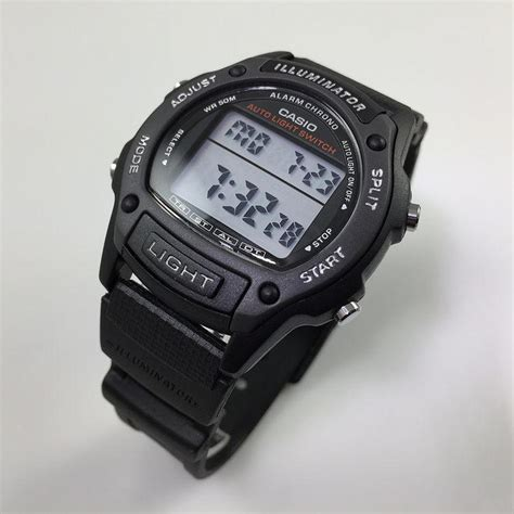 s casio black digital sports w93h 1av