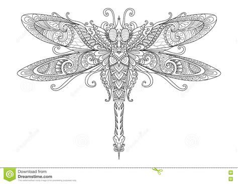 doodles design of dragonfly for tattoo design element t