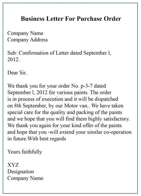 business letter  order template sample
