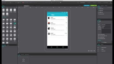material design app mockup material design email app prototype in 3 minutes youtube