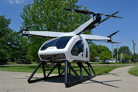 Drone Helicopter workhorse s surefly fuses helicopter with drone into a carbon fiber craft