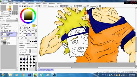 paint tool sai fan made goku mata a parte 2 fan paint tool sai