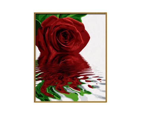 Roos Premium rode roos premium 40 x 50 cm schilderij formaten www