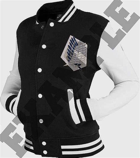 Jaket Snk Varsity preorder custom shingeki no kyojin attack on titan