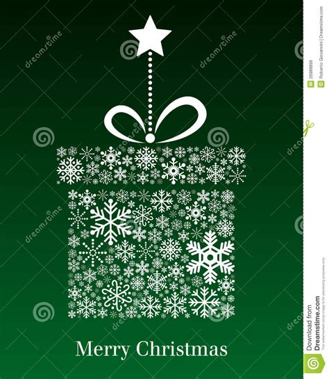 christmas gift greeting card stock vector image 26988899