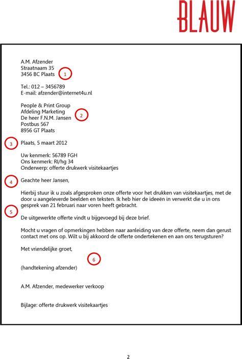 formele brief nederlands