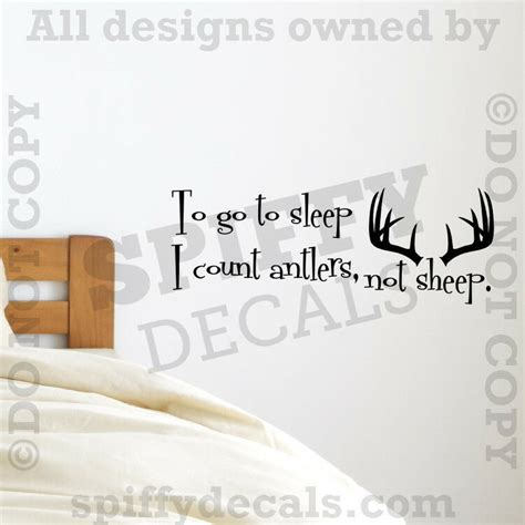 count antlers wall decal wall to go to sleep i count antlers not sheep bedroom quote