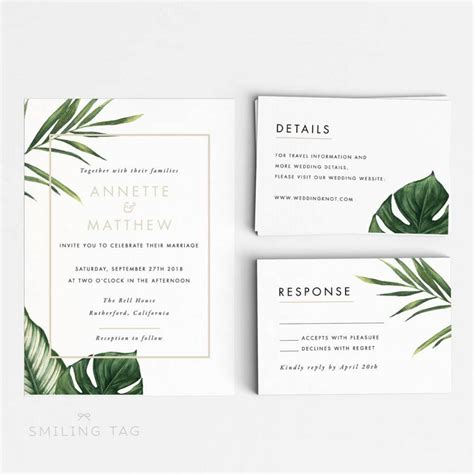 Ready To Print Wedding Invitations by Printable Wedding Invitation Printable Set Modern